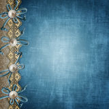 Blue album cover. Or page for photos royalty free illustration