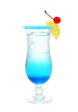 Blue alcohol cocktail Stock Images