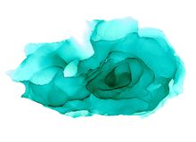 Blue alcohol ink abstract hand painted background stock photos