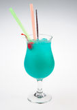 Blue alcoholic cocktail Stock Photo