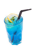 Blue alcoholic cocktail Stock Photography