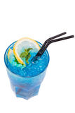 Blue alcoholic cocktail Royalty Free Stock Photography