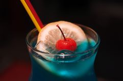 Blue alcoholic drink Stock Images