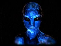 Blue alien Royalty Free Stock Photography