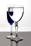 Blue alien eye in wine glass Royalty Free Stock Photography