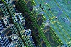 Blue alien fractal. 3d rendering Royalty Free Stock Images