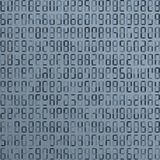 Blue alien, incomprehensible computer code. Abstract background. Hacker attack. Generated computer code concept.  stock illustration