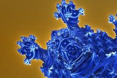 Blue alien structure. 3d illustration Stock Photo
