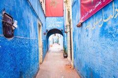 Blue Alley in Medina, Morocco Stock Image