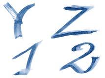 Blue alphabet Royalty Free Stock Images