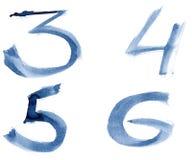 Blue alphabet Stock Images