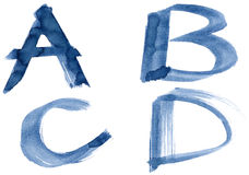 Blue alphabet Stock Photo