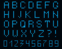 Blue alphabet Royalty Free Stock Photos