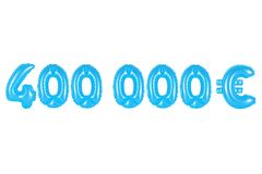 Four hundred thousand euros, blue color Royalty Free Stock Photo