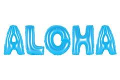Hawaii, Aloha, blue color. Blue alphabet balloons, Hawaii, Aloha, blue number and letter balloon Royalty Free Stock Images