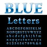 Fat blue letters. Blue alphabet, fat blue letters, vector illustration vector illustration