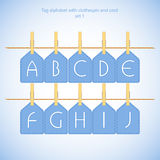 Blue alphabet set vol.1 Stock Images