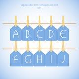 Blue alphabet set vol.1 Stock Images