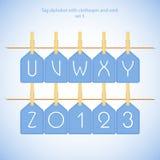 Blue alphabet set vol.3 Stock Images