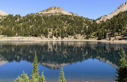 Blue Alpine Lake with Ripples Stock Photography