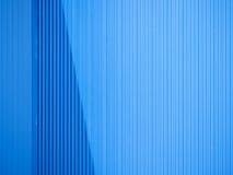Blue aluminium sheet as a wall Stock Images