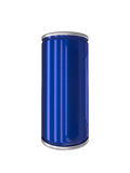 Blue Aluminum Drink Can isolated with clipping path Royalty Free Stock Images