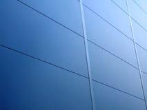 Blue aluminum wall Stock Photo