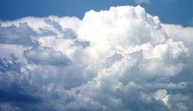 Blue amazing storm clouds. Amazing storm clouds photography , high resolution, amazing details Royalty Free Stock Photo