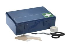 Blue ambulance box Stock Photography