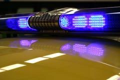 Blue ambulance lights  Stock Photos