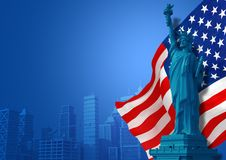 Blue American Background Royalty Free Stock Photo