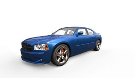 Blue American Car Royalty Free Stock Photography