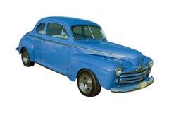 Blue American Streetrod. Blue classic American street-rod on white Royalty Free Stock Photos