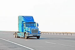 Blue american truck Royalty Free Stock Photo