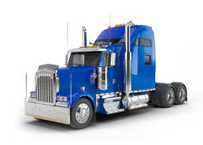 Blue american truck Royalty Free Stock Image