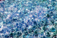 Blue Amethyst Cluster Background Stock Photography