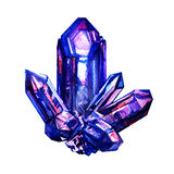 Blue amethyst crystal isolated Royalty Free Stock Images