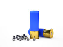 Blue ammo and shot Royalty Free Stock Image