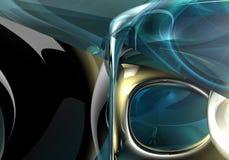 Blue&silver Hintergrund Stockfotos