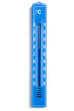 Blue analog thermometer Stock Photography