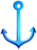 A blue anchor Stock Image