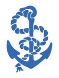 Blue anchor Royalty Free Stock Photos