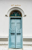 Blue  ancient  door Royalty Free Stock Photography