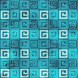 Blue ancient seamless pattern with grunge effect Royalty Free Stock Photo