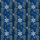 Blue And Gold Christmas Wrapping Paper Stock Photos