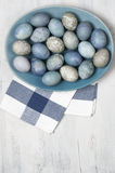 Blue And Gray Easter Eggs Stock Photography