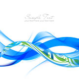 Blue And Green Abstract Fume Waves Stock Image