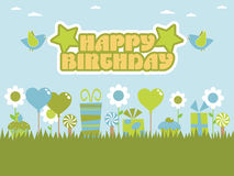 Free Blue And Green Birthday Stock Image - 13886421