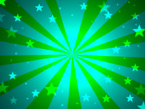 Blue And Green Stars Stock Image
