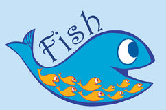 Blue And Orange Fish Stock Images